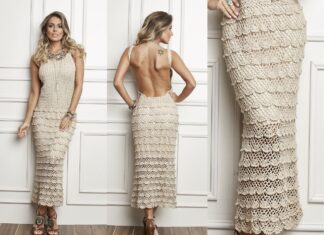 Tutorial on Crochet Elegant Ruffle Maxi Dress