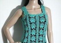 Crochet pineapple dress