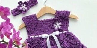 Tutorial on crochet baby dress