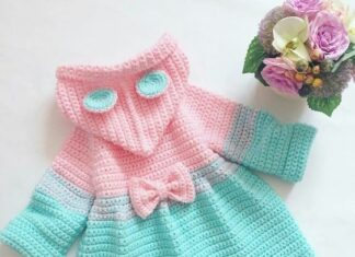 Tutorial on Crochet Hooded Jacket Girl