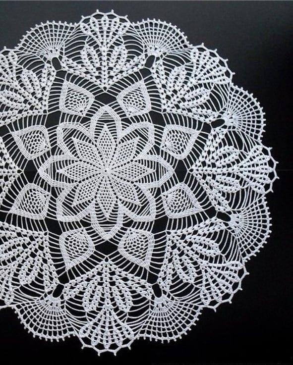 Tutorial napkin in crochet