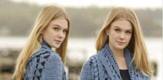 Cardigan crochet tutorial in Circular