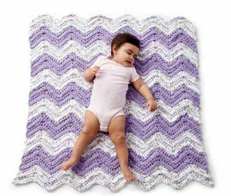 Crochet Chevron Simple Baby Blanket