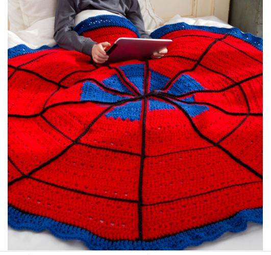 Covered in crochet spider web launch