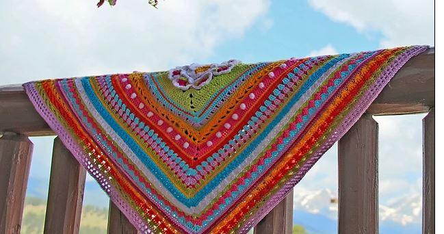 Tutorial on crochet Manta Around of bases