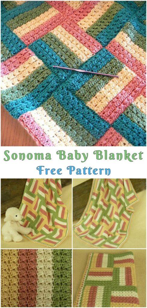 Crochet Sonama baby blanket