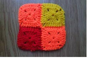 Colorful blanket crochet pattern