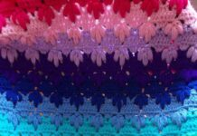 Step by step blanket in colorful crochet