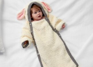 Sheep crochet bag