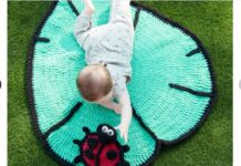 Ladybug pattern crochet mat