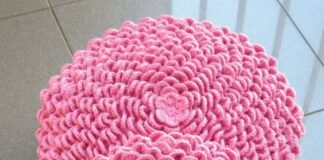 Step by step crochet cushion