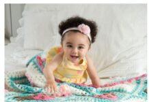 Personalized in crochet baby blanket